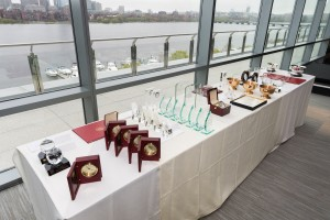 Awards table on May 1 in the Samberg Center, Chang Building (Photo: Justin Knight Photography)