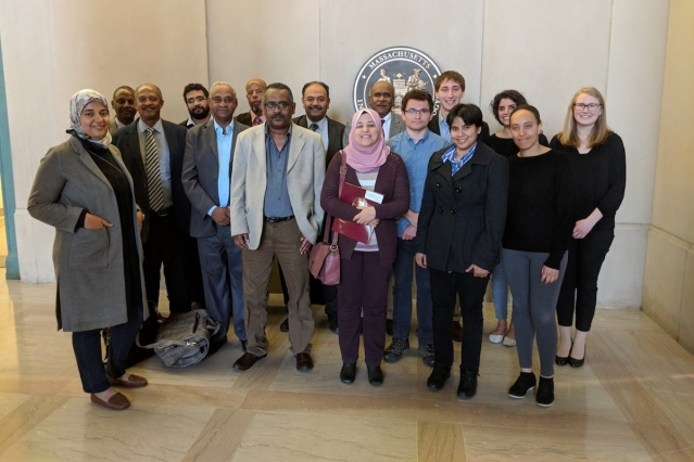 Participants from Egypt, Ethiopia, and Sudan convened at MIT for a two-day event on the future of the Nile water, hosted by Professor Elfatih Eltahir. (Photo: Stephanie M. McPherson)